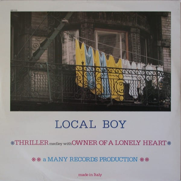 Local Boy ‎– Thriller Medley With Owner Of A Lonely Heart