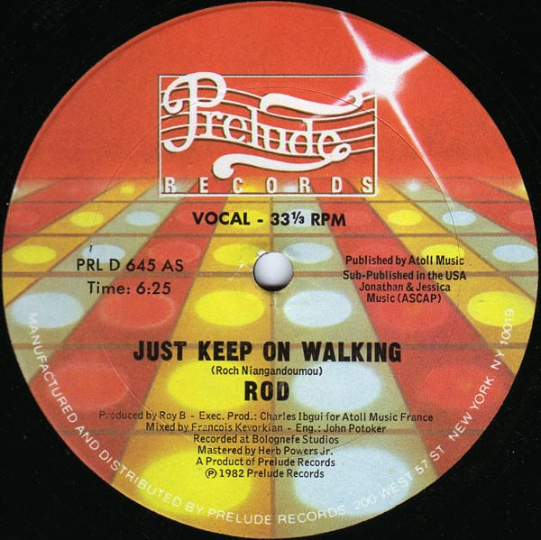 Rod ‎– Just Keep On Walking