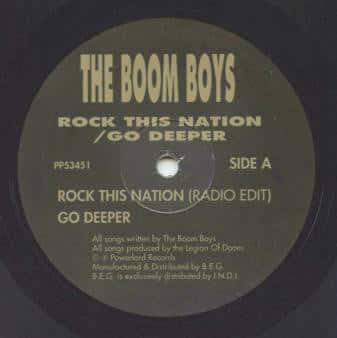 The Boom Boys - Rock This Nation / Go Deeper
