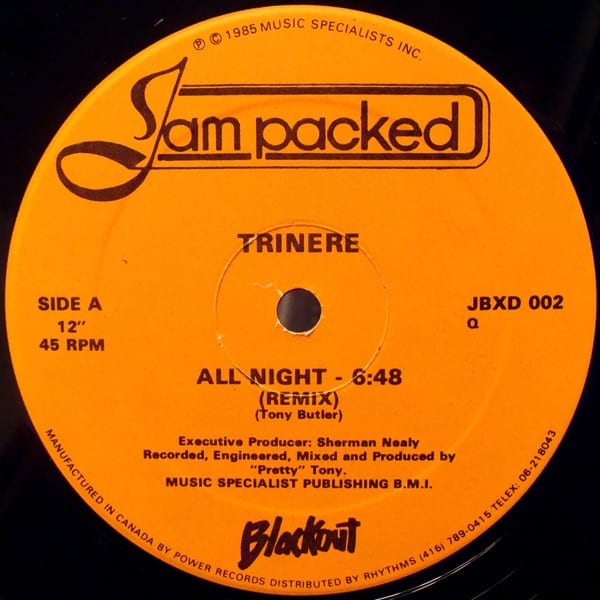 Trinere ‎- All Night (Remix)