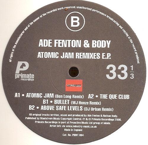 Ade Fenton & Body - Atomic Jam Remixes E.P.