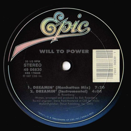 Will To Power – Dreamin'