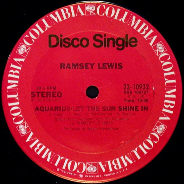 Ramsey Lewis – Aquarius/Let The Sun Shine In / Just Can't Give You Up