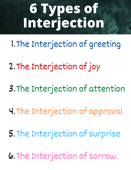 types of interjection