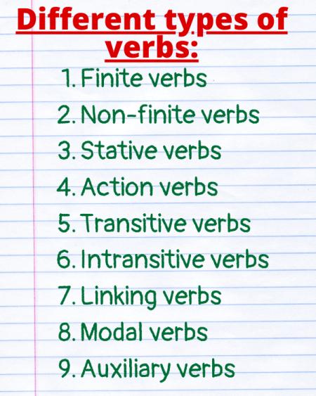 verbs types