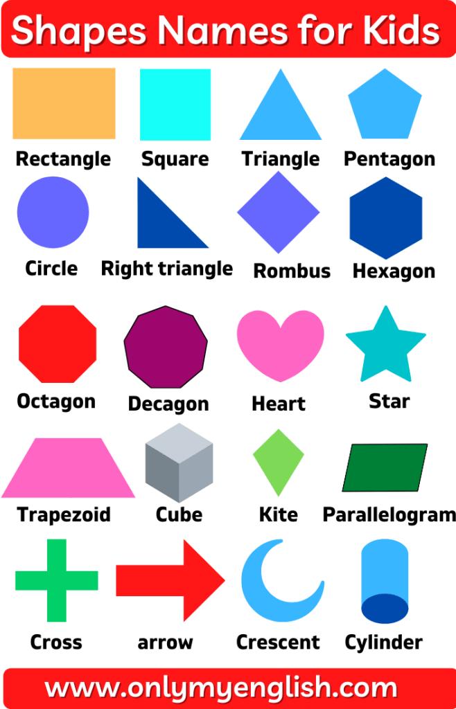 shapes names for kids