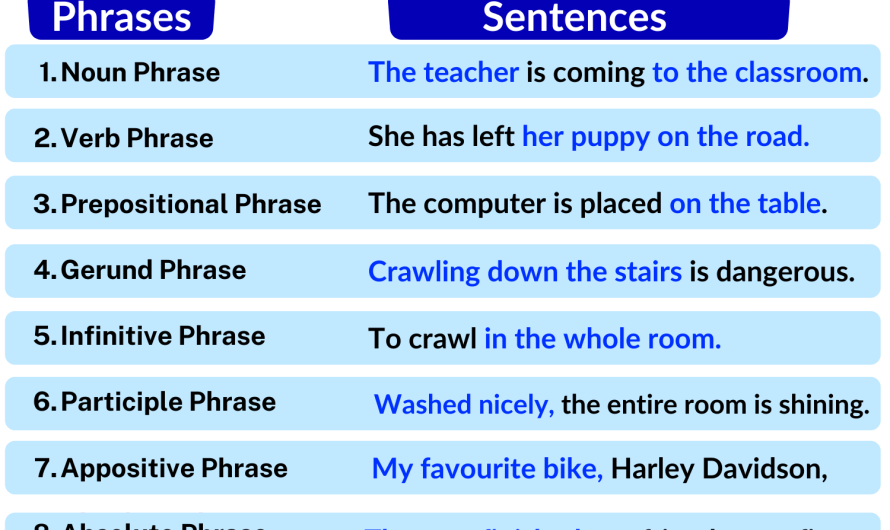 Phrase: Definition & Types