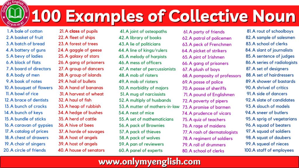 examples of collective noun in sentences