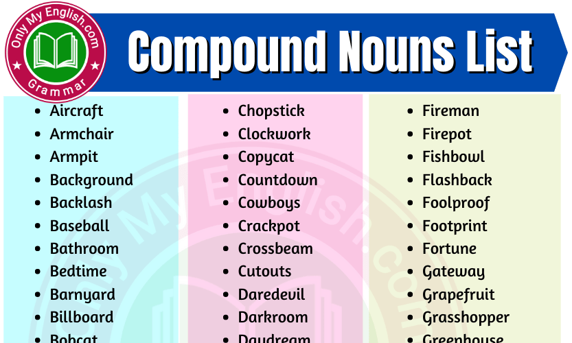 Compound Nouns List in English