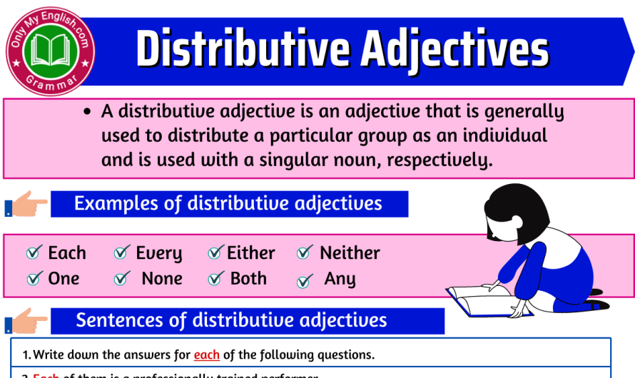 Distributive Adjectives: Definition, Examples, & List