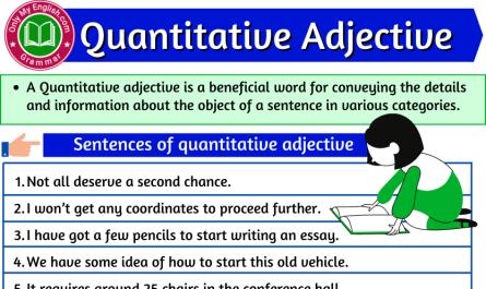 quantitative adjective