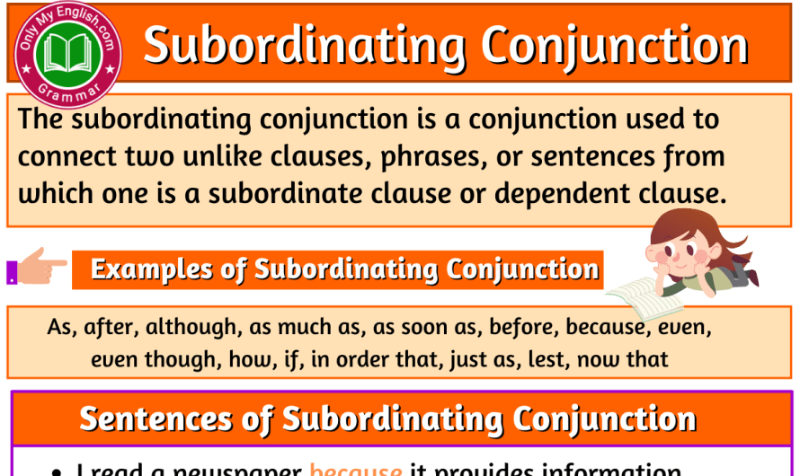 What is a Subordinating Conjunction? Examples and Sentences