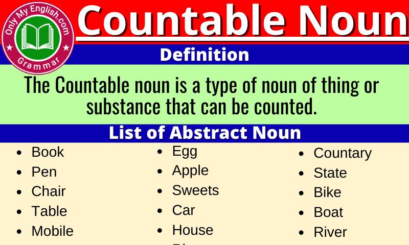 Countable Noun: Definition, Examples & List