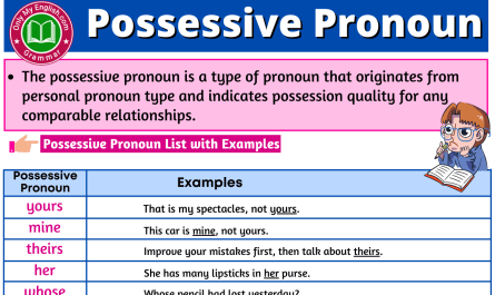possessive pronoun