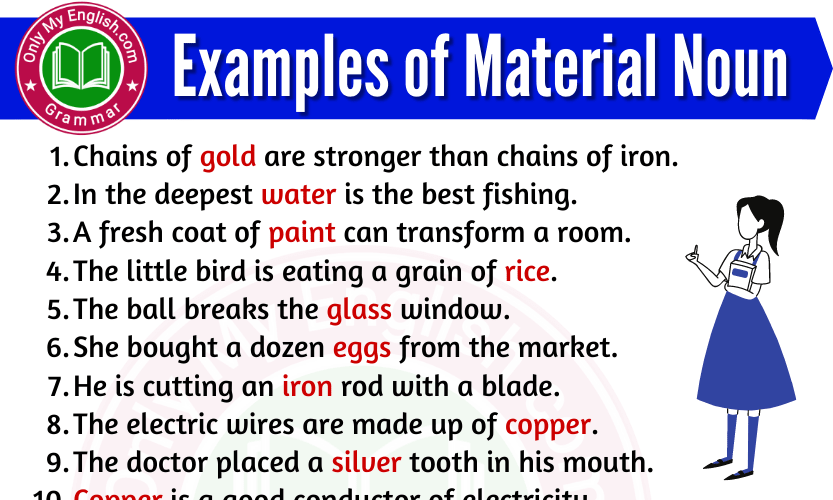 20 Examples of Material Noun are in Sentences