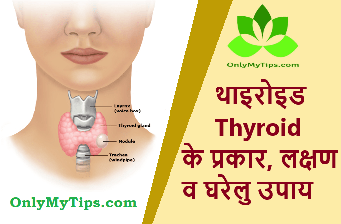 Thyroid Types, Symptoms and Home Remedies in Hindi
