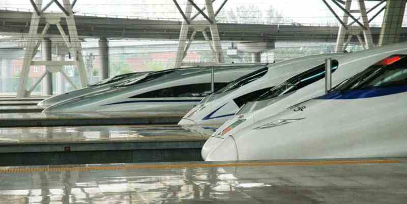 Bullet trains or high-speed trains in China