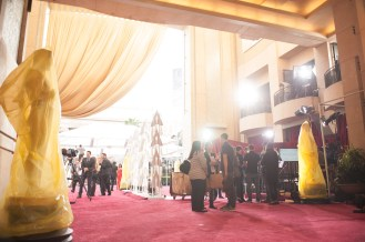 Preparations continue Saturday February 21, 2015 for the 87th Oscars® for outstanding film achievements of 2014 which will be presented on Sunday, February 22, 2015, at the Dolby® Theatre and televised live by the ABC Television Network.