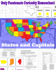 States And Capitals Printable Flash Cards And Worksheets Only Passionate Curiosity