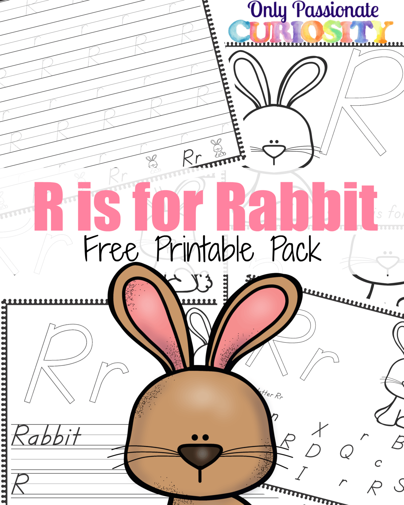 R Is For Rabbit Handwriting Activity Pack