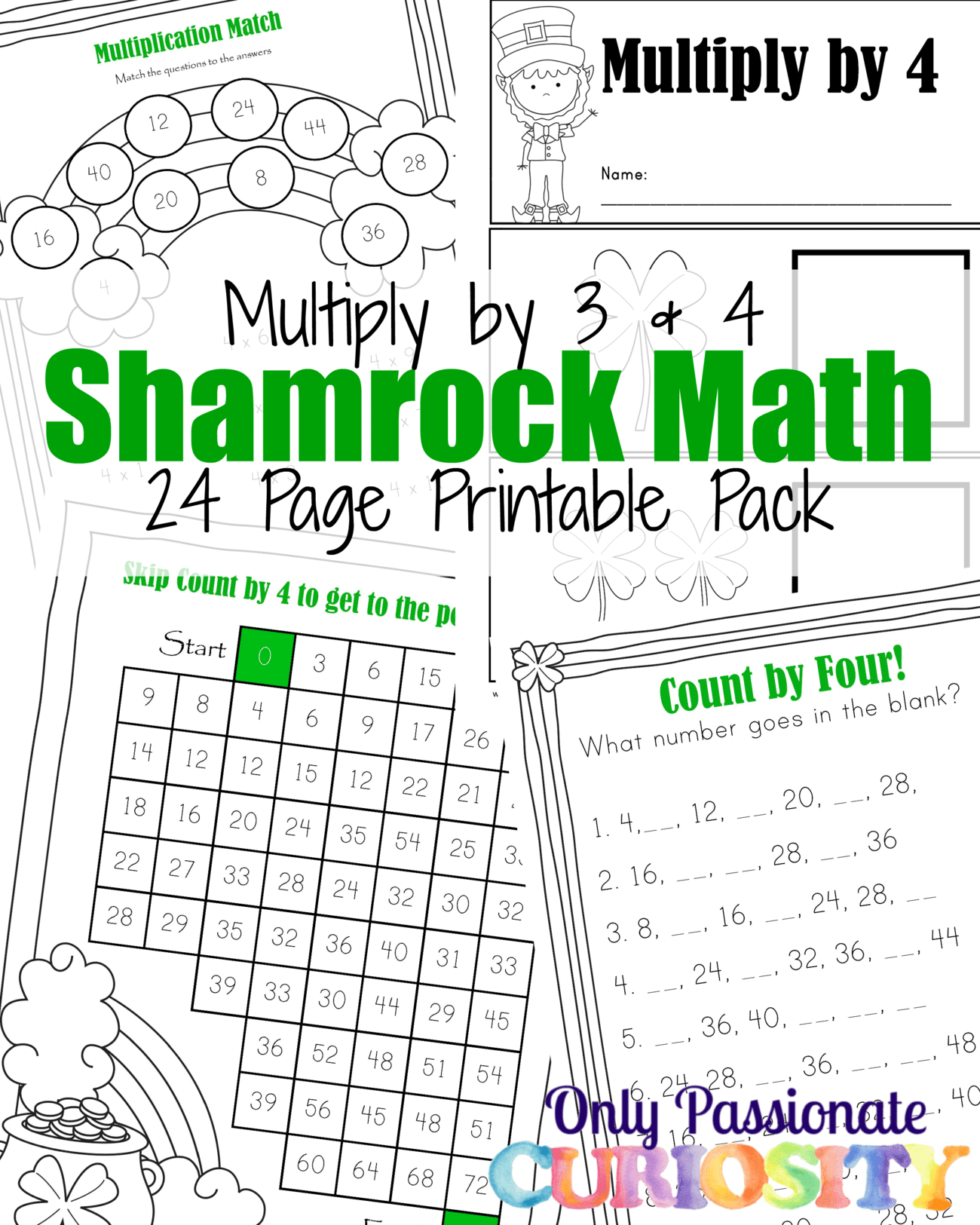 Shamrock Math Times Tables Printables