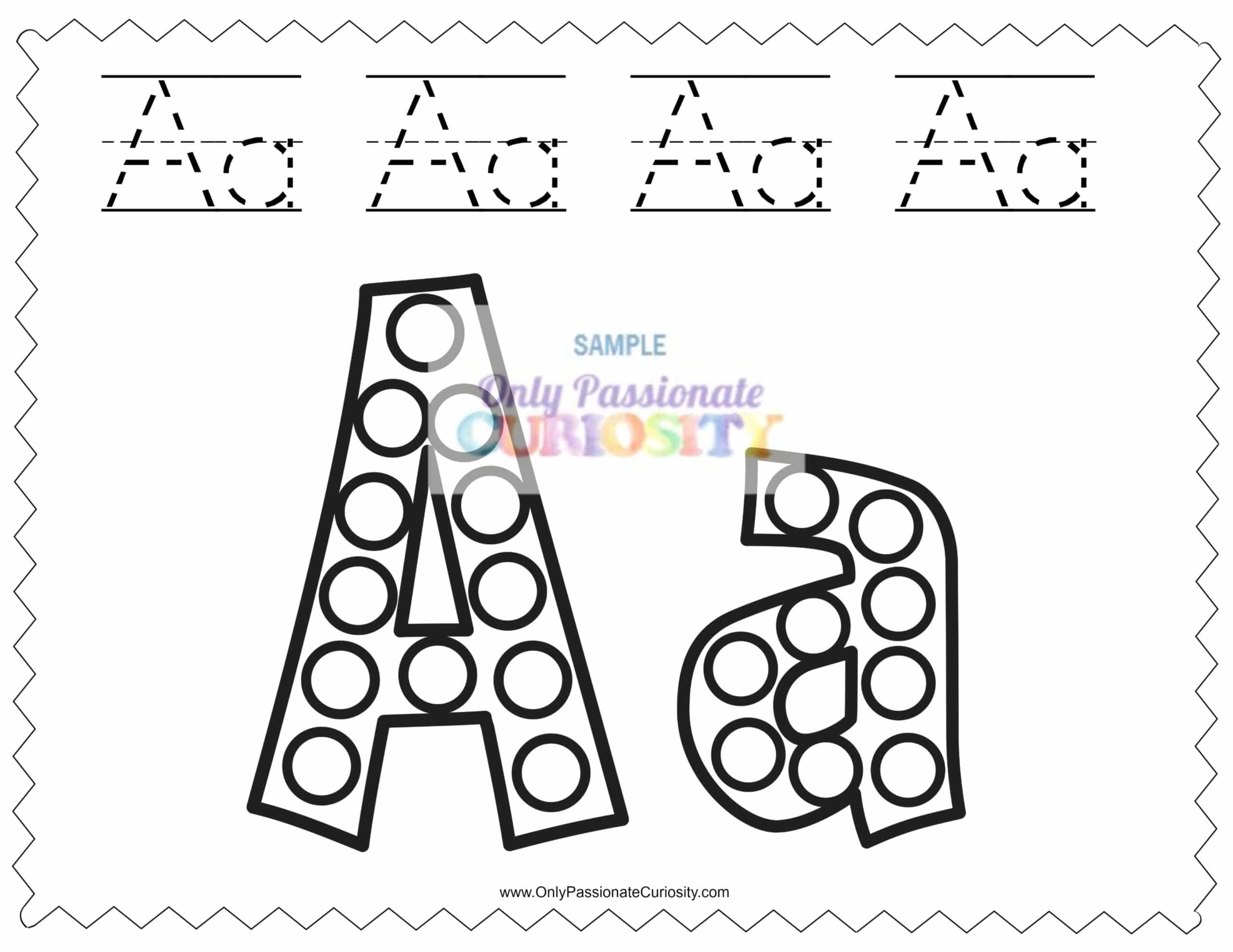 Dab A Dot Worksheets Abcs