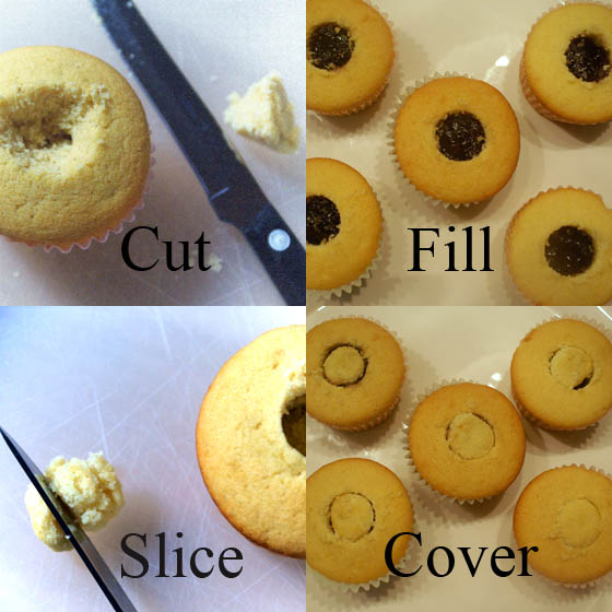 Assemble a Filled Cupcake. Visit OnlyTasteMatters.com