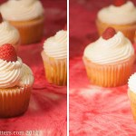 Lemon Raspberry Cupcakes with White Chocolate Buttercream Frosting
