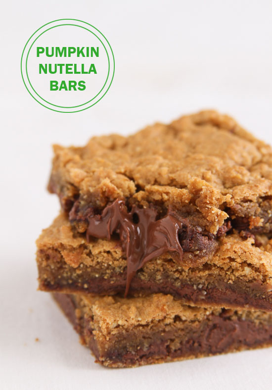 Pumpkin Nutella Bars {gluten free}