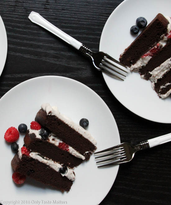 Patriotic Paleo Chocolate Cake | Only Taste Matters