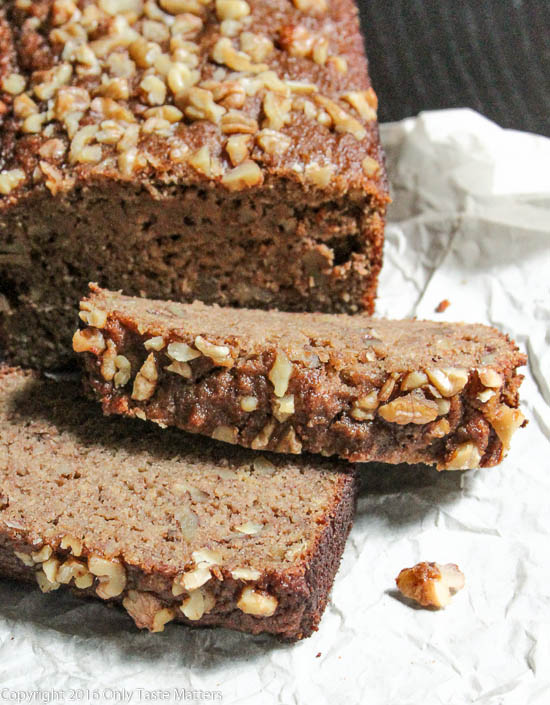Paleo Banana Bread, Top Ten Recipes of 2016 | Only Taste Matters
