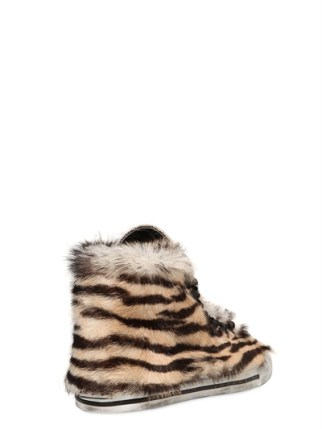 Dioniso 20mm Tiger Print Pony Skin Sneakers [384-268]
