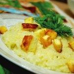 Шафрановый рис с сыром (Кесар панир пулао)