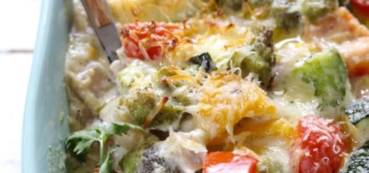 Запеченные овощи в сливочном соусе