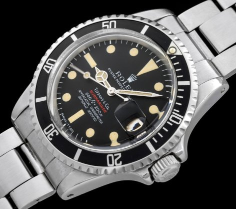 "Rolex ""The 1680 red Submariner retailed by Tiffany"" 1"
