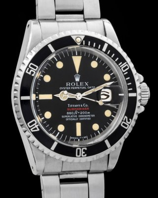 "Rolex ""The 1680 red Submariner retailed by Tiffany"" 4"