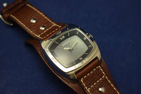 Fossil BigTic AM3695 Brown Leather Quartz Watch