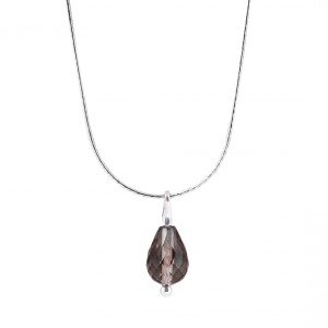 smoky quartz necklace onlyway jewelry natural stone pendant
