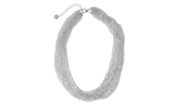 allegria multiple chains silver necklace