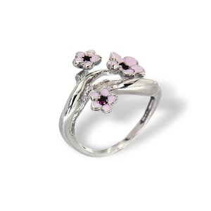 Cherry Blossom Silver Ring Artisan Jewellery onlyway jewelry