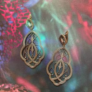 Divine Earrings Sterling Silver Onlyway Jewelry Artisan Hand Crafted