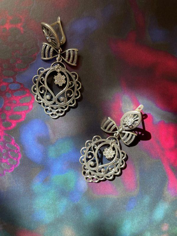 E121313 Bow Earrings Onlyway Jewelry