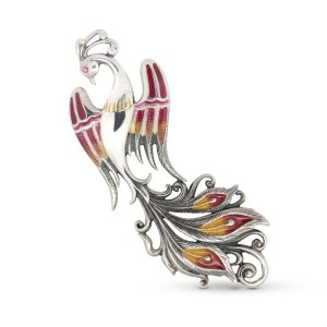 Firebird Silver & Enamel Brooch by Onlyway Jewelry
