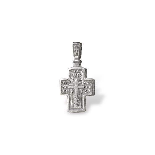 Small Religious Cross Pendant Sterling Silver by Onlyway Jewelry