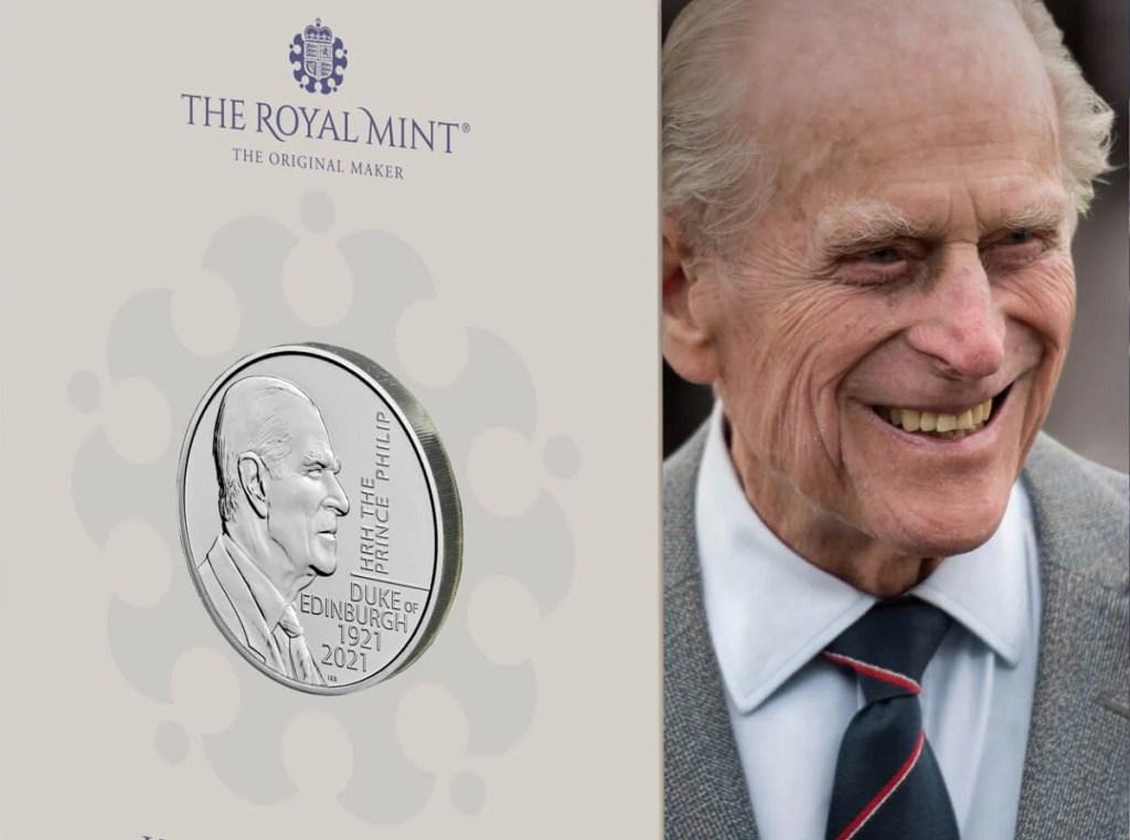 В честь принца Филиппа выпущена монета £5 ограниченного тиража HRH The Prince Philip Duke of Edinburgh 2021 UK 5 Brilliant Uncirculated Coin