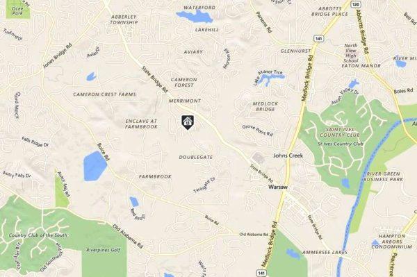 Map Location Johns Creek Georgia Doublegate Location