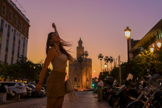 Séville sunset Tore del oro blog