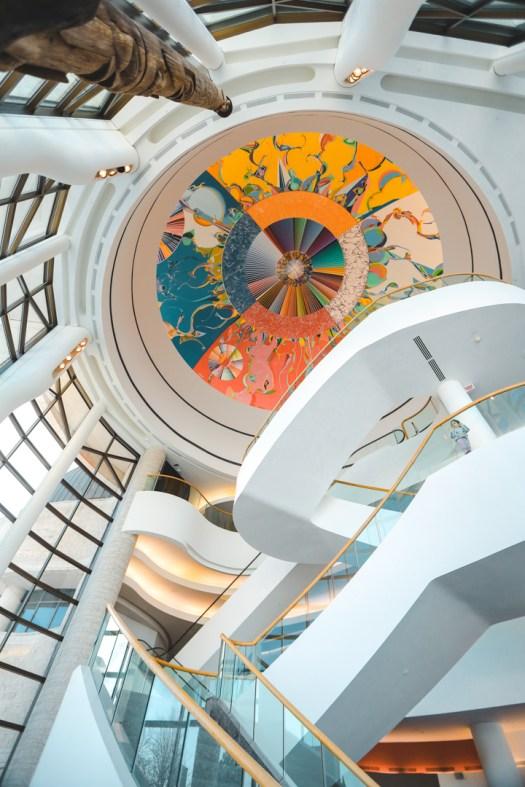 Plafond peint au musée canadien de l'histoire au Canada