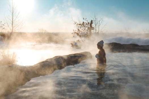 nordik spa nature l'hiver à Chelsea au Québec
