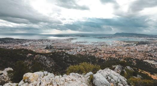 vue depuis le mont faron Toulon